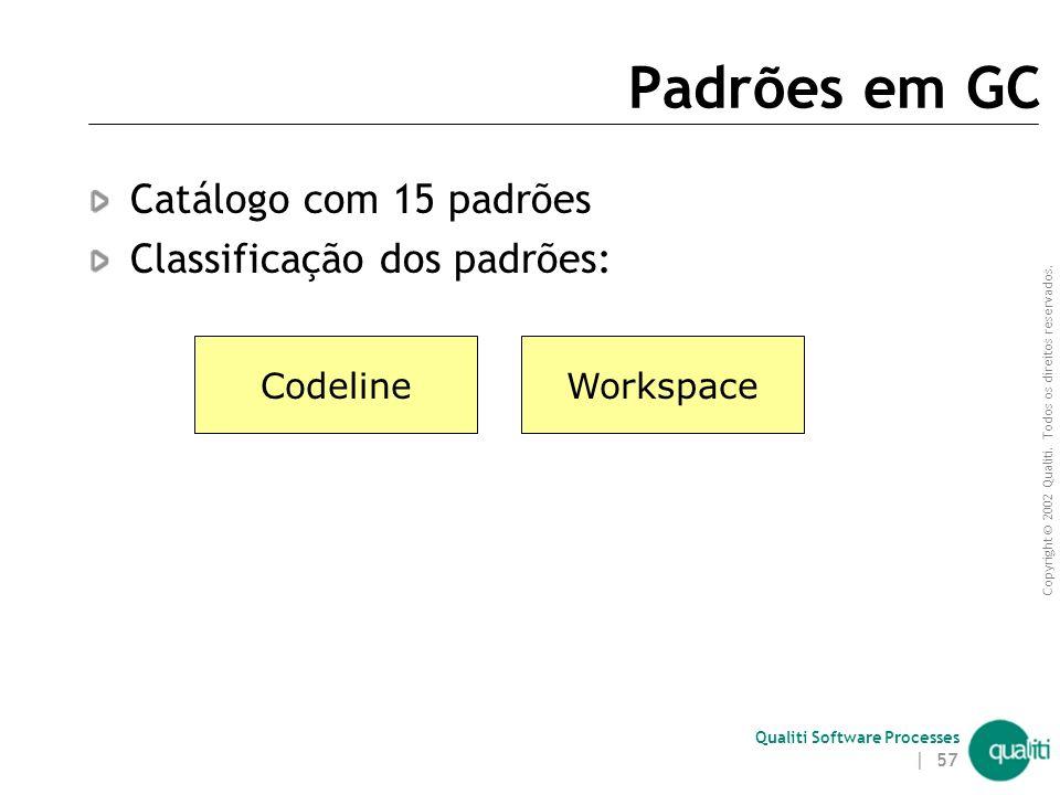 Padrões em GC Catálogo com 15 padrões Classificação dos padrões: