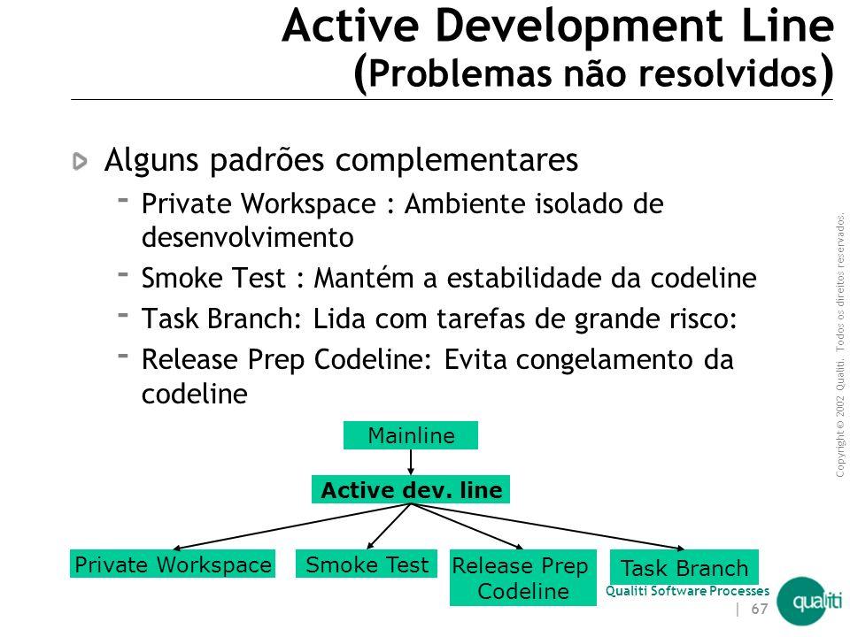Active Development Line (Problemas não resolvidos)