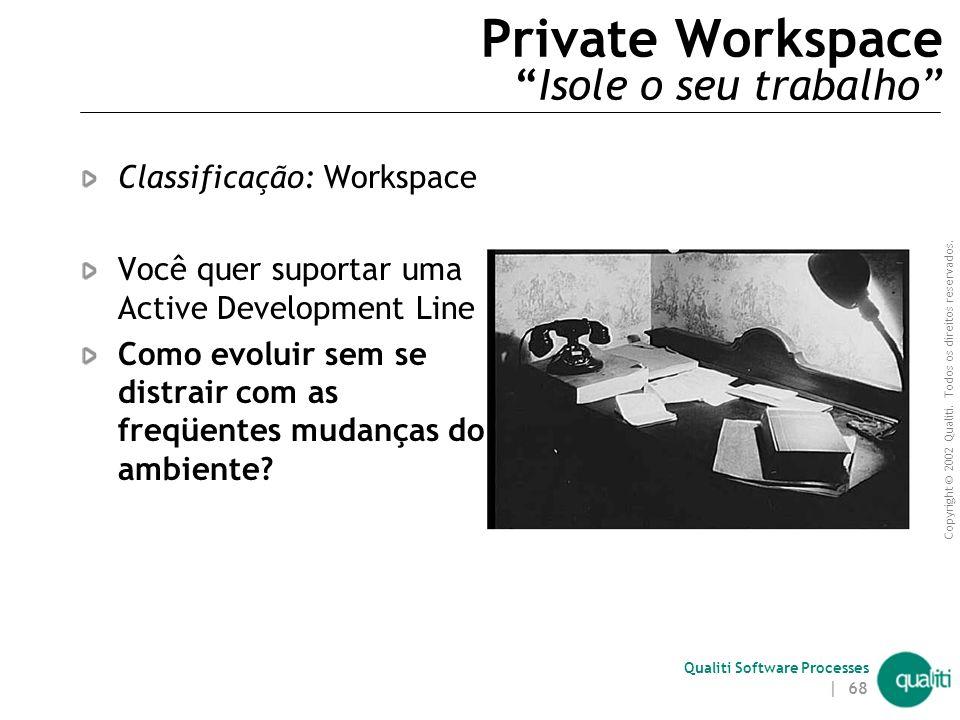 Private Workspace Isole o seu trabalho
