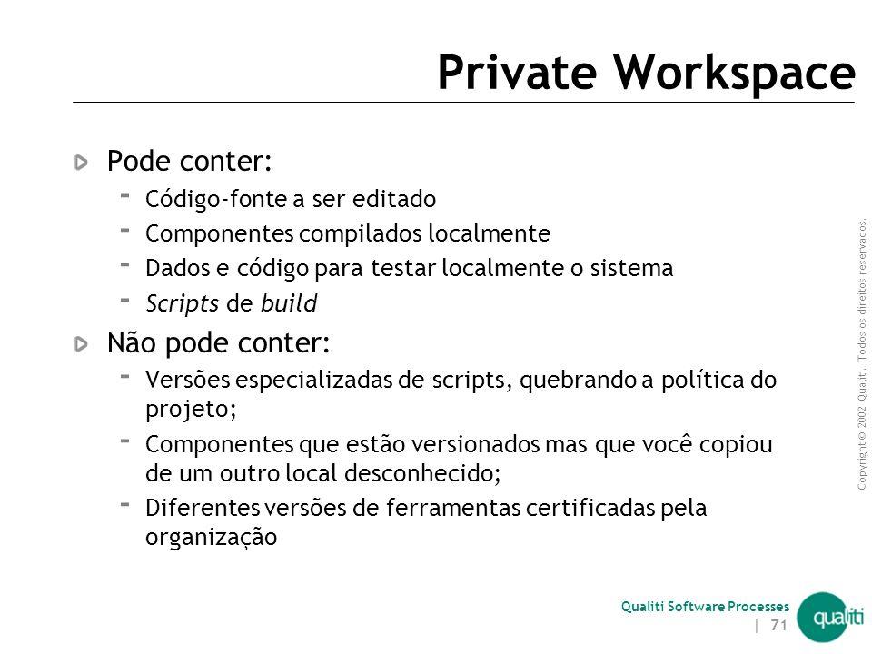 Private Workspace Pode conter: Não pode conter: