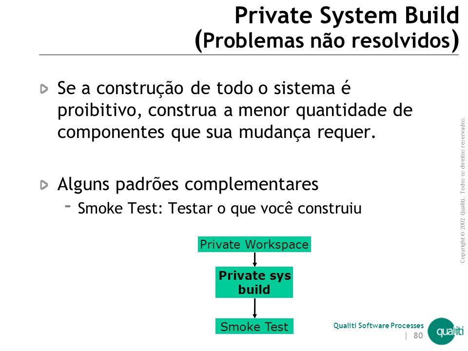 Private System Build (Problemas não resolvidos)