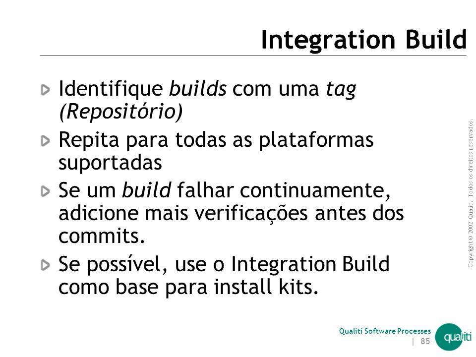 Integration Build Identifique builds com uma tag (Repositório)