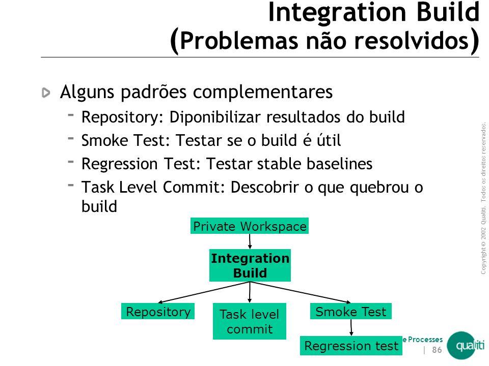 Integration Build (Problemas não resolvidos)