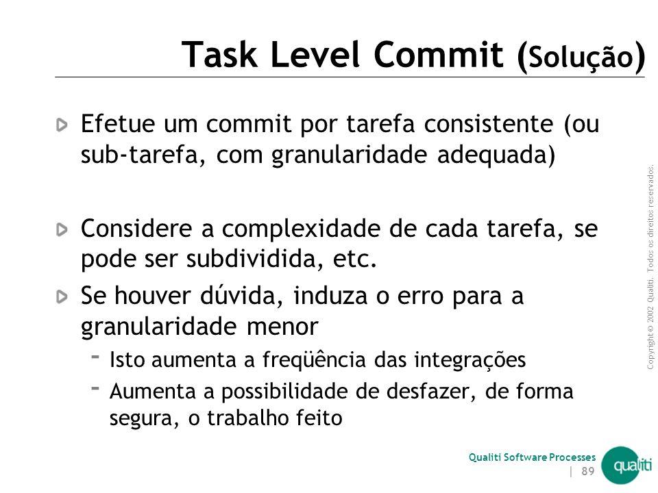 Task Level Commit (Solução)