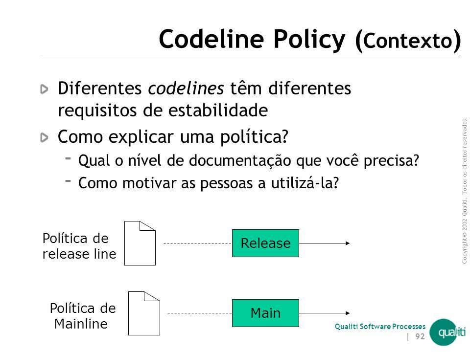 Codeline Policy (Contexto)