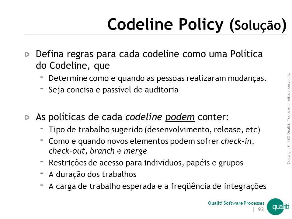 Codeline Policy (Solução)