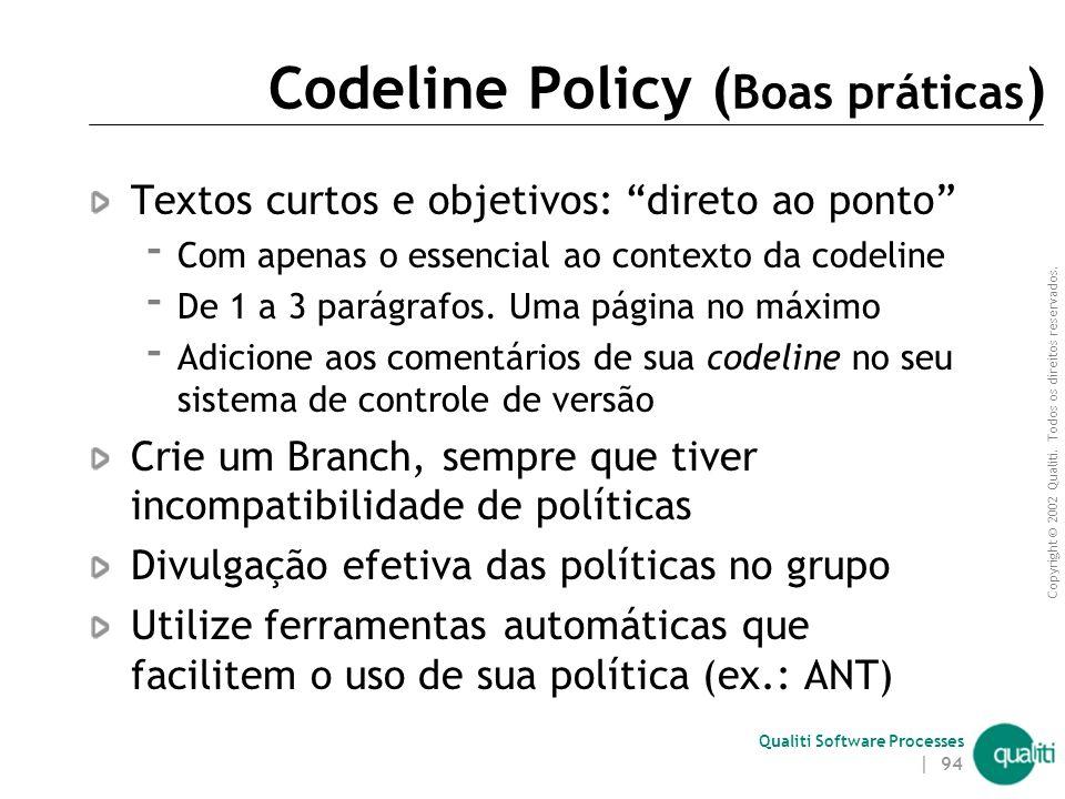 Codeline Policy (Boas práticas)