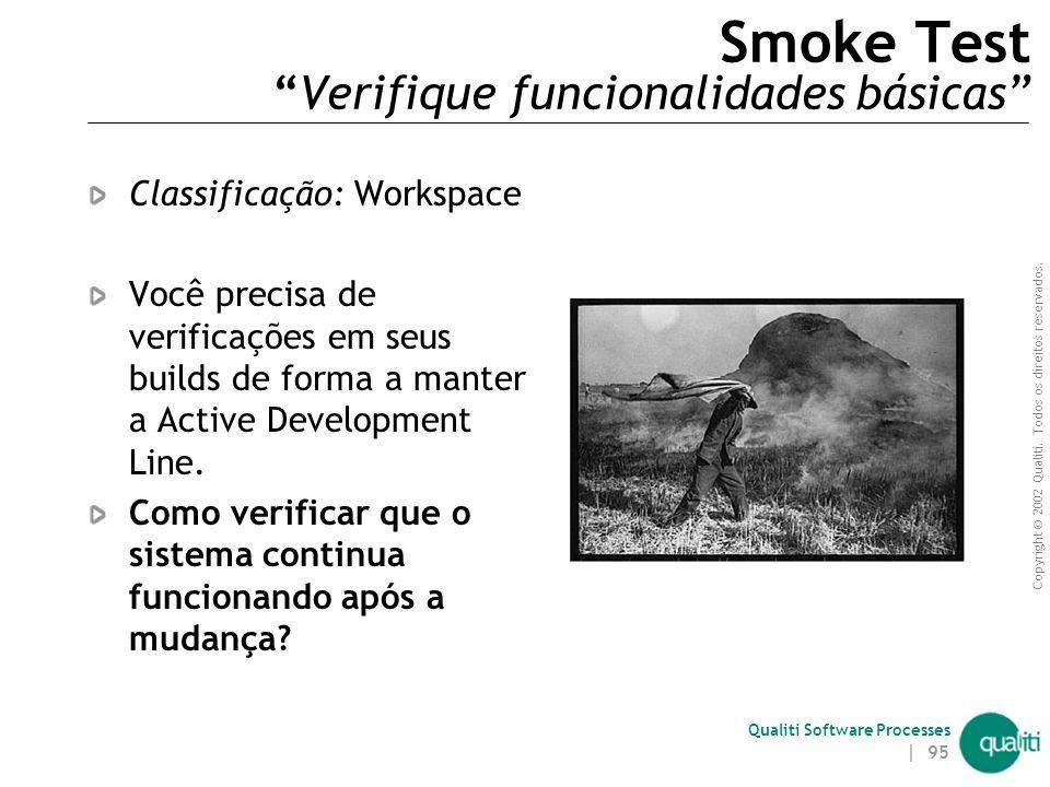 Smoke Test Verifique funcionalidades básicas