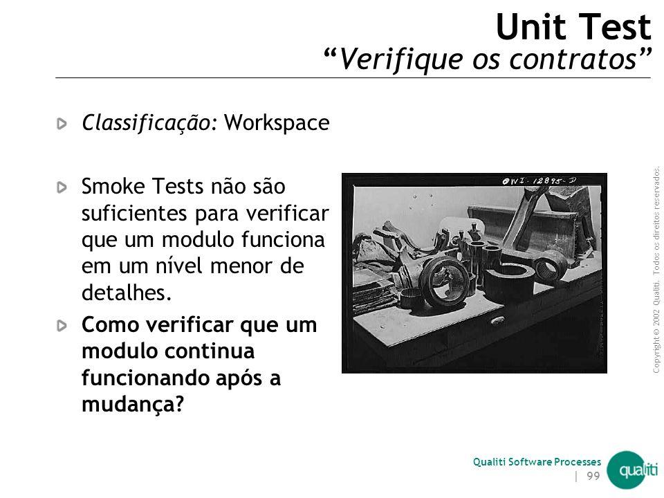 Unit Test Verifique os contratos