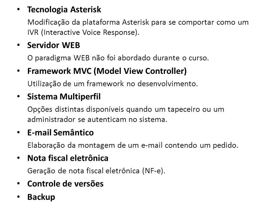 Framework MVC (Model View Controller) Sistema Multiperfil