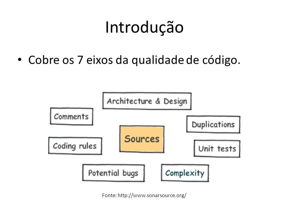 Introdução Cobre os 7 eixos da qualidade de código.