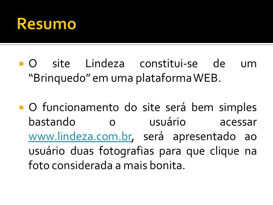 Resumo O site Lindeza constitui-se de um Brinquedo em uma plataforma WEB.