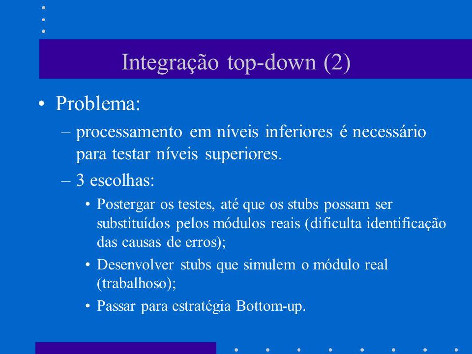 Integração top-down (2)