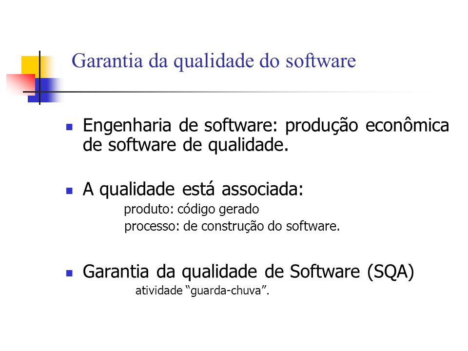 Garantia da qualidade do software