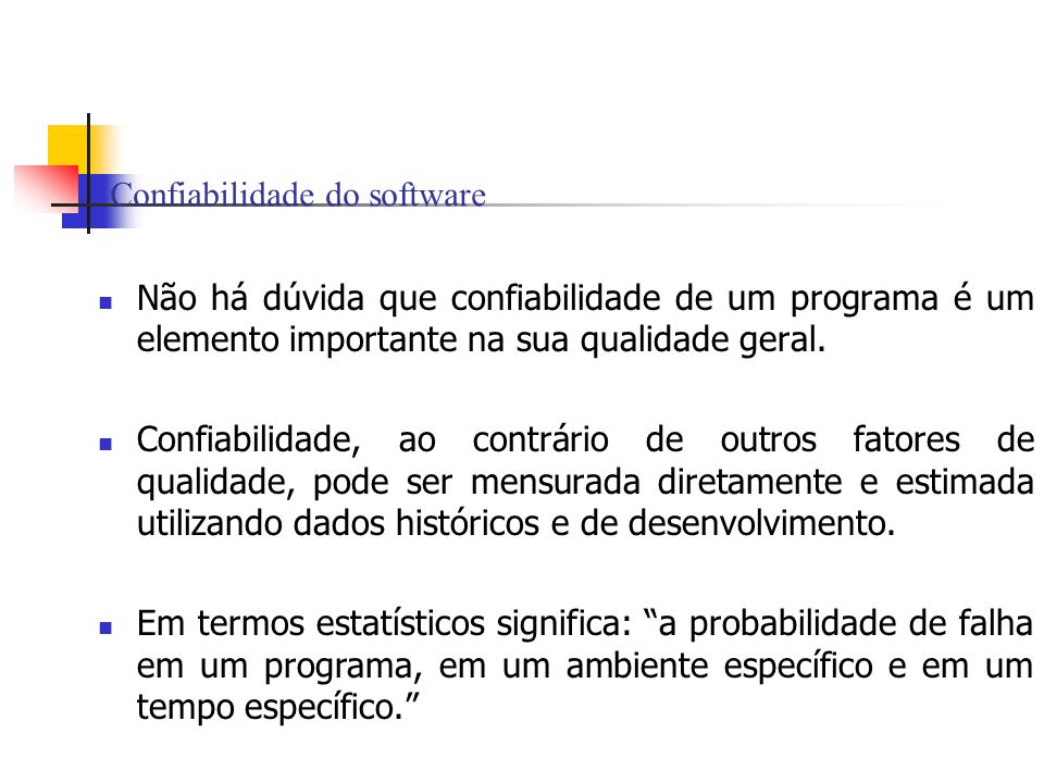 Confiabilidade do software