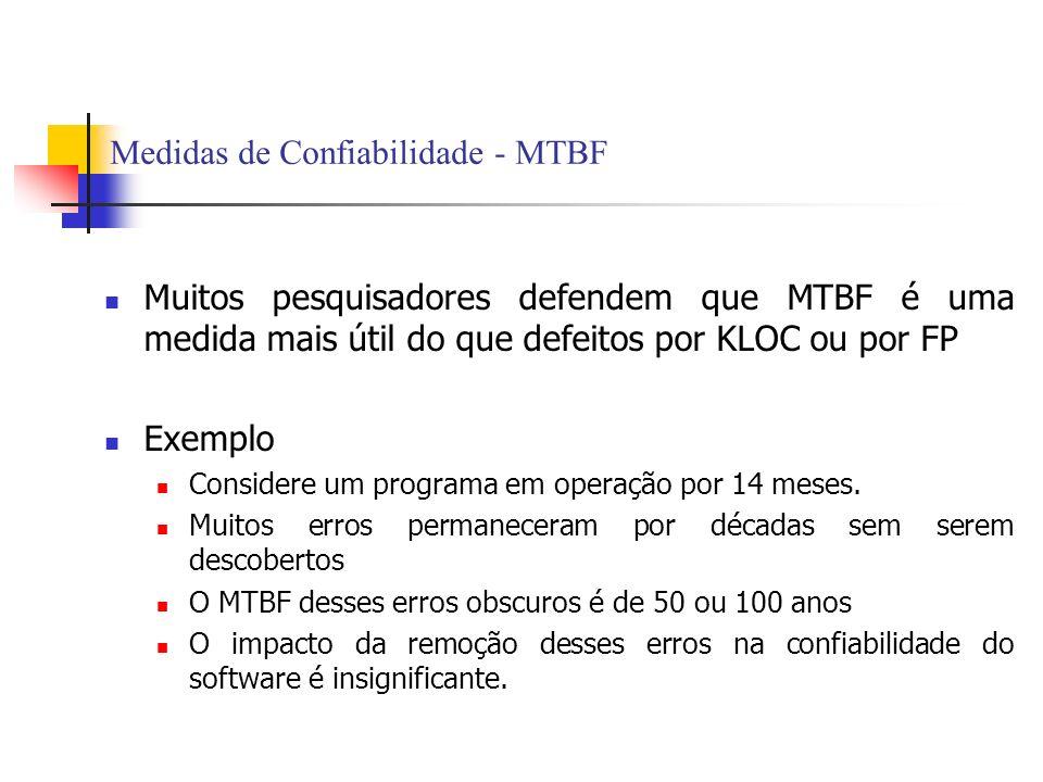 Medidas de Confiabilidade - MTBF