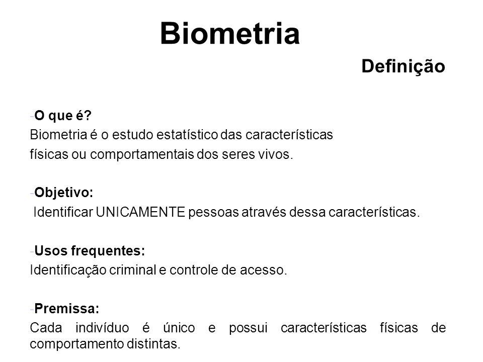 Biometria Definição O que é