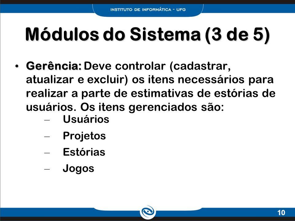 Módulos do Sistema (3 de 5)