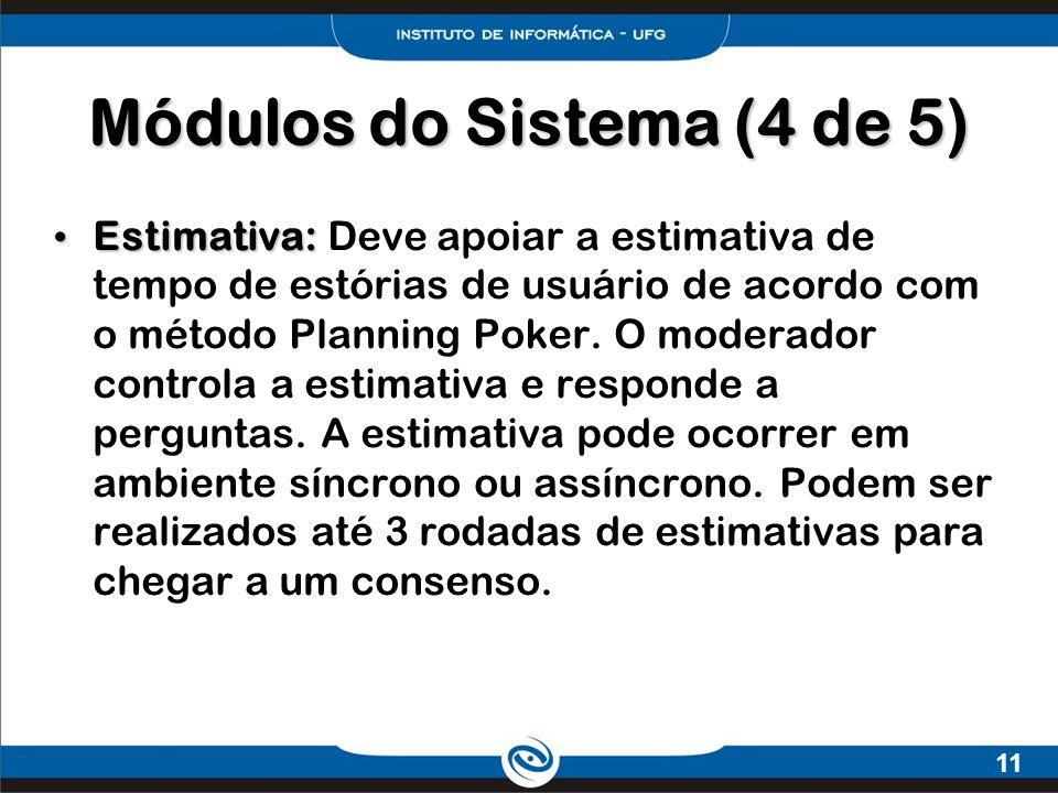 Módulos do Sistema (4 de 5)