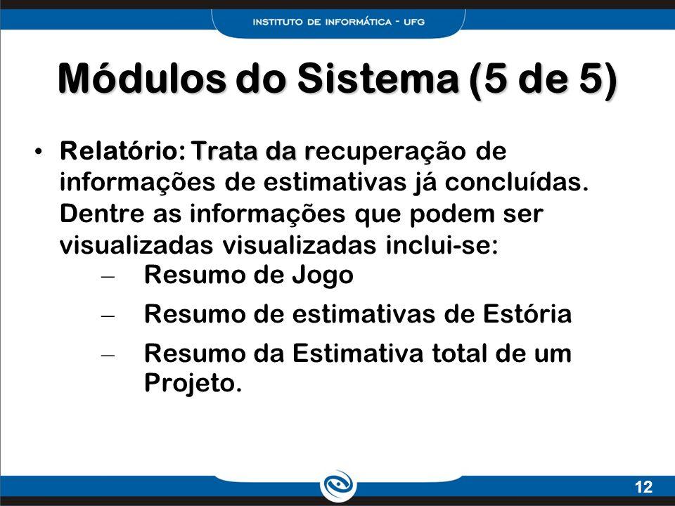 Módulos do Sistema (5 de 5)