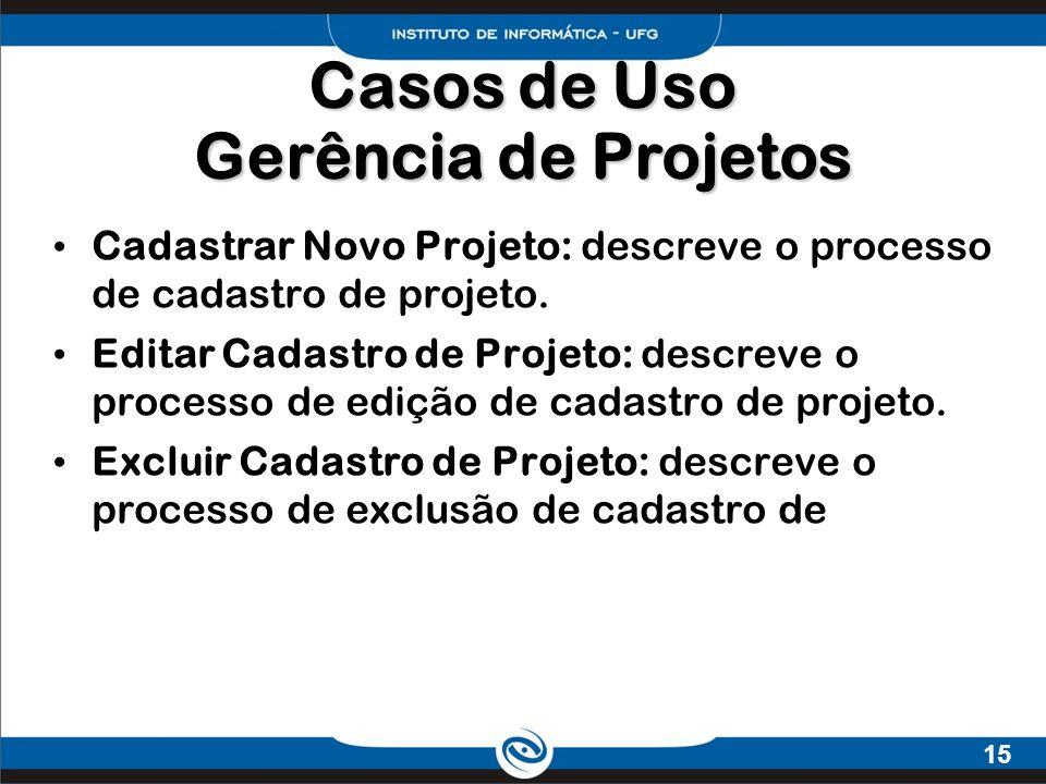 Casos de Uso Gerência de Projetos