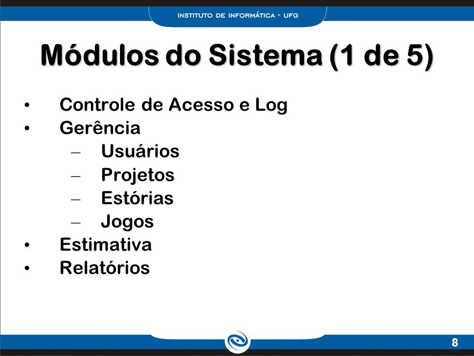 Módulos do Sistema (1 de 5)