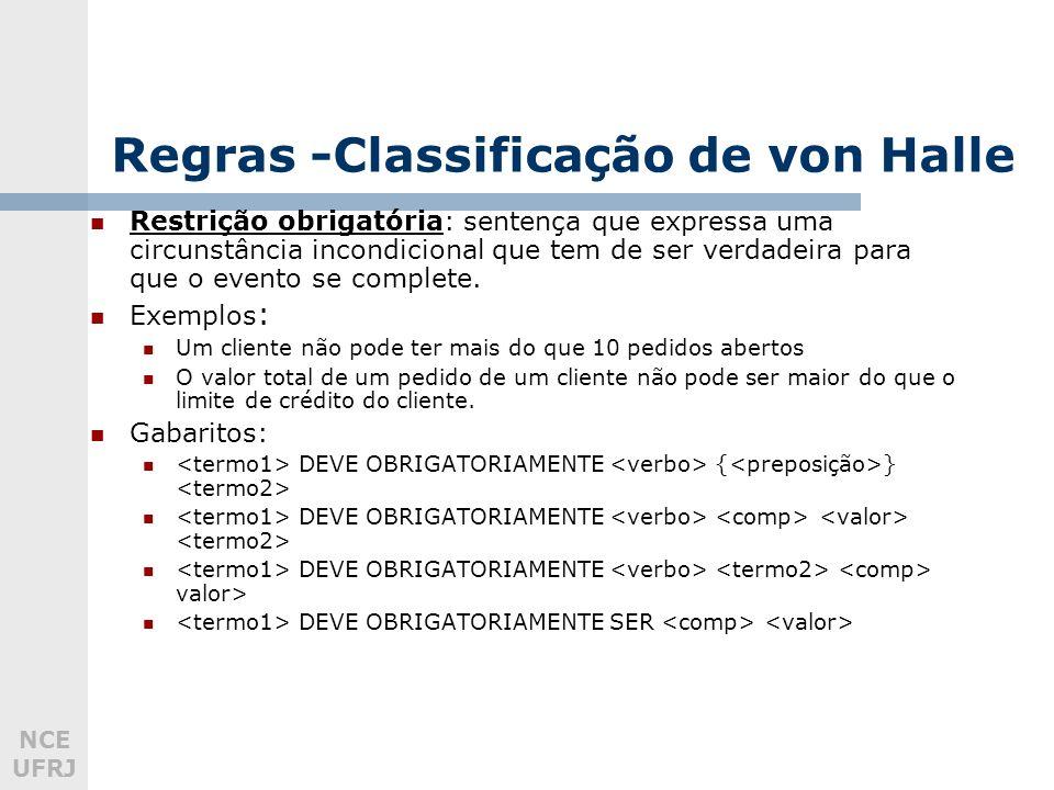 Regras -Classificação de von Halle