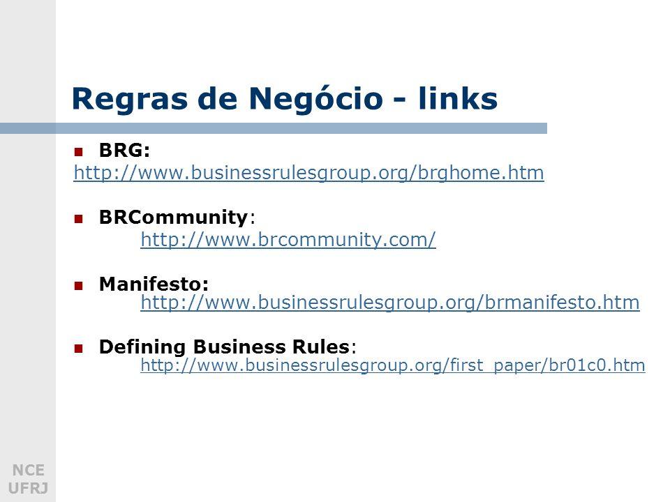 Regras de Negócio - links