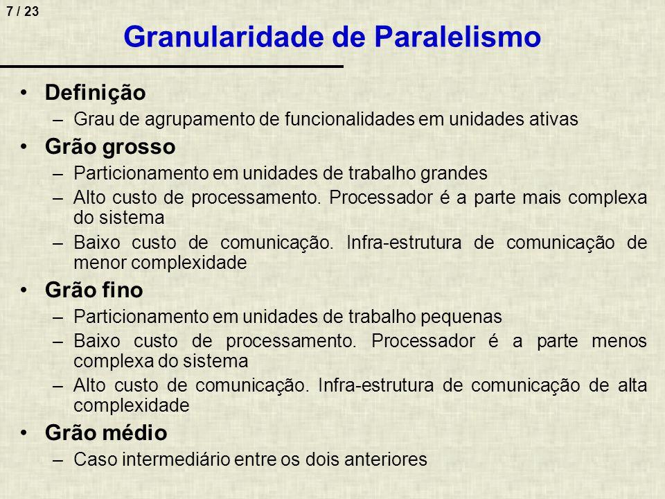 Granularidade de Paralelismo