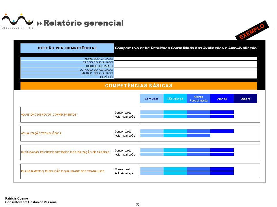 Relatório gerencial EXEMPLO