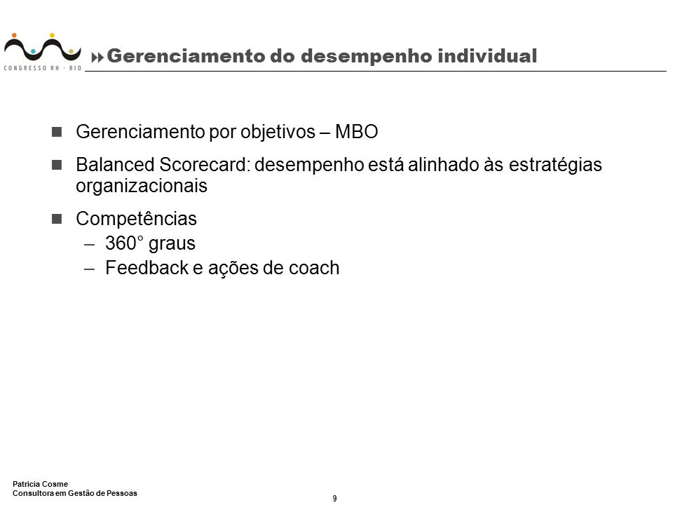 Gerenciamento do desempenho individual