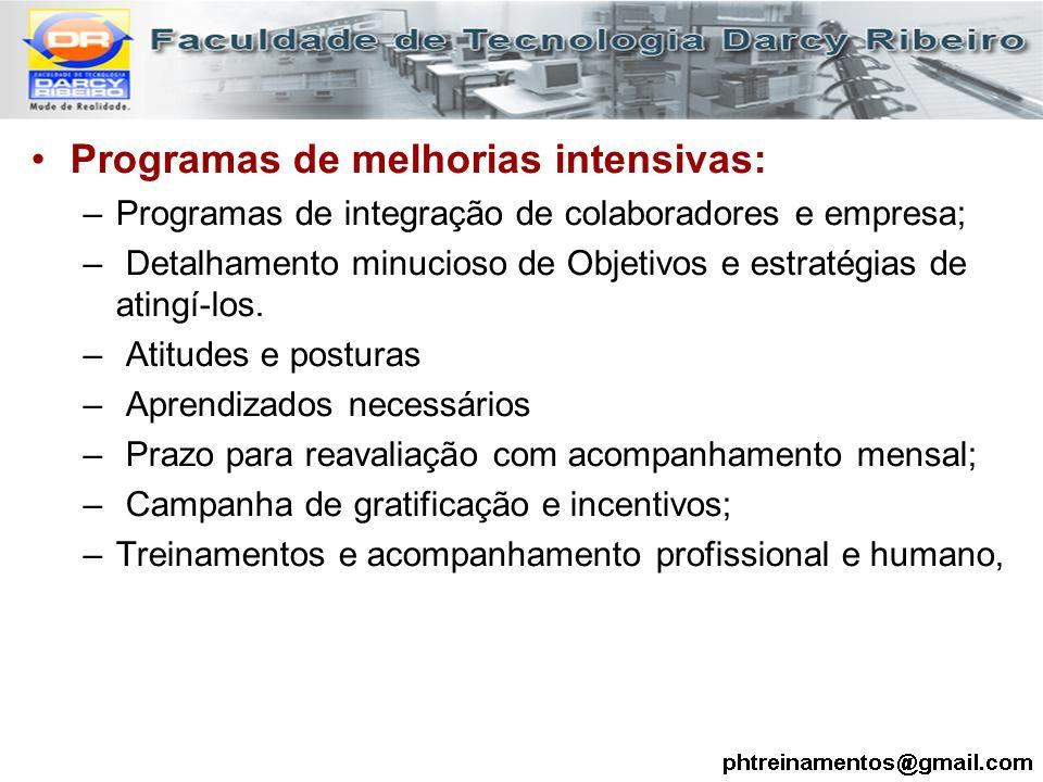 Programas de melhorias intensivas: