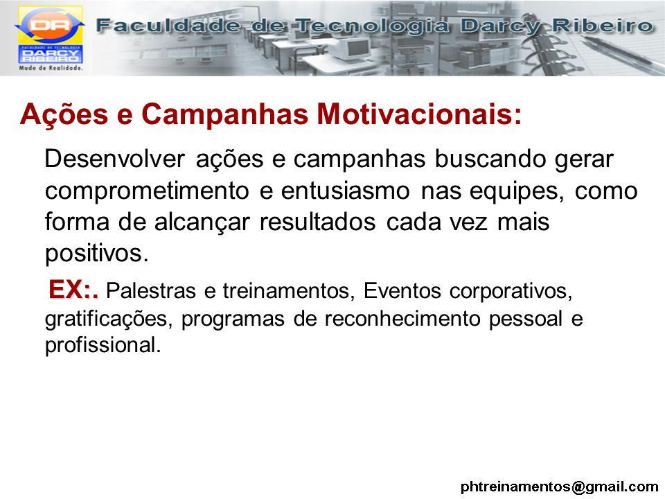 Ações e Campanhas Motivacionais: