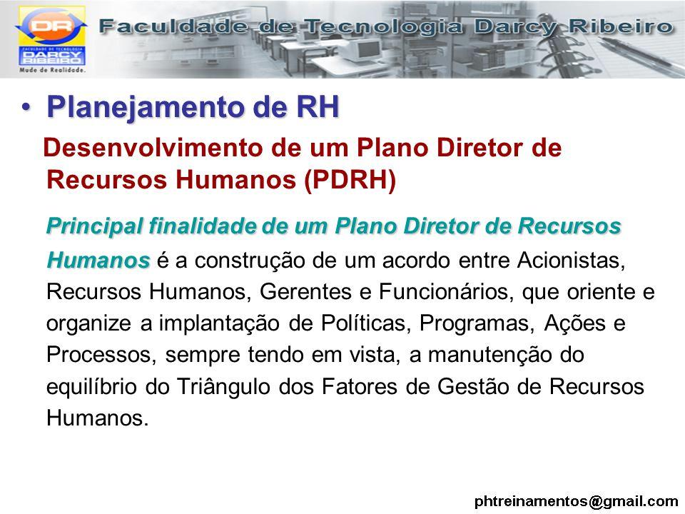 Planejamento de RH Desenvolvimento de um Plano Diretor de Recursos Humanos (PDRH)