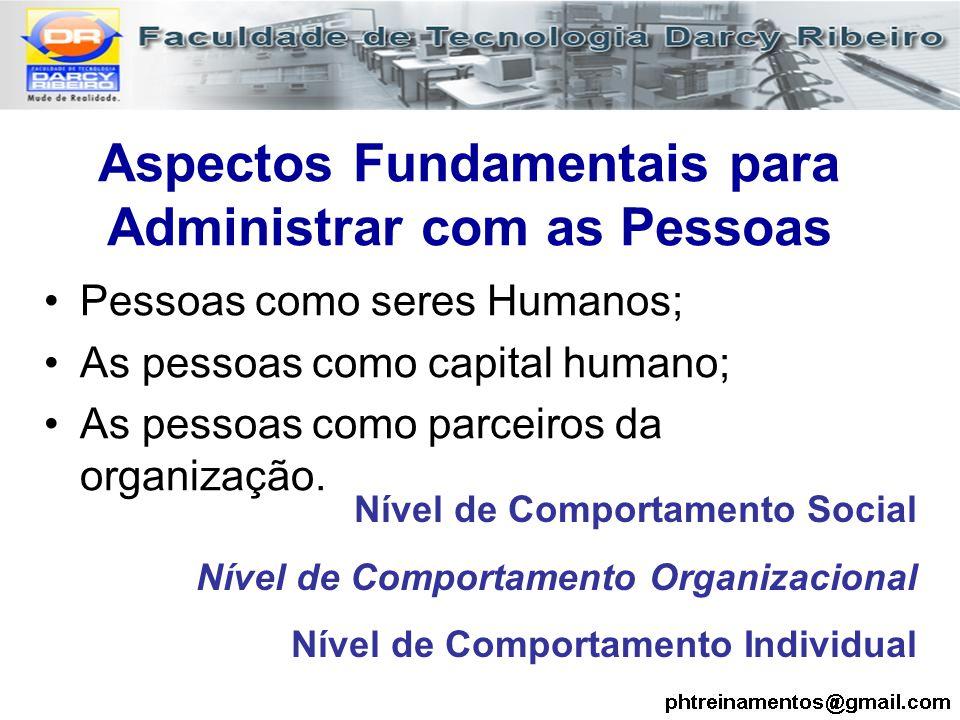 Aspectos Fundamentais para Administrar com as Pessoas
