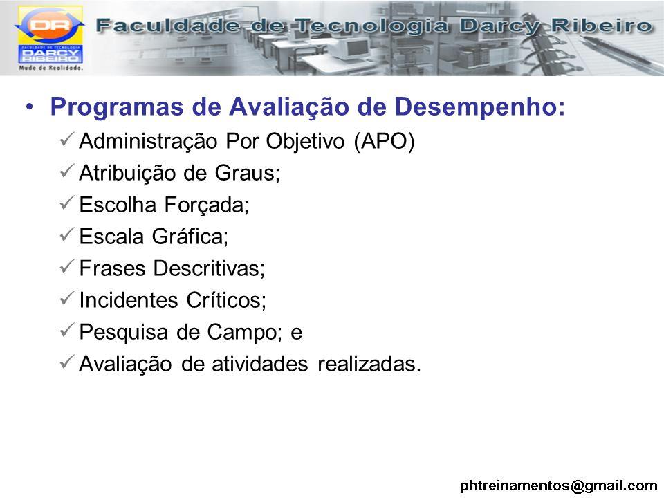 Programas de Avaliação de Desempenho: