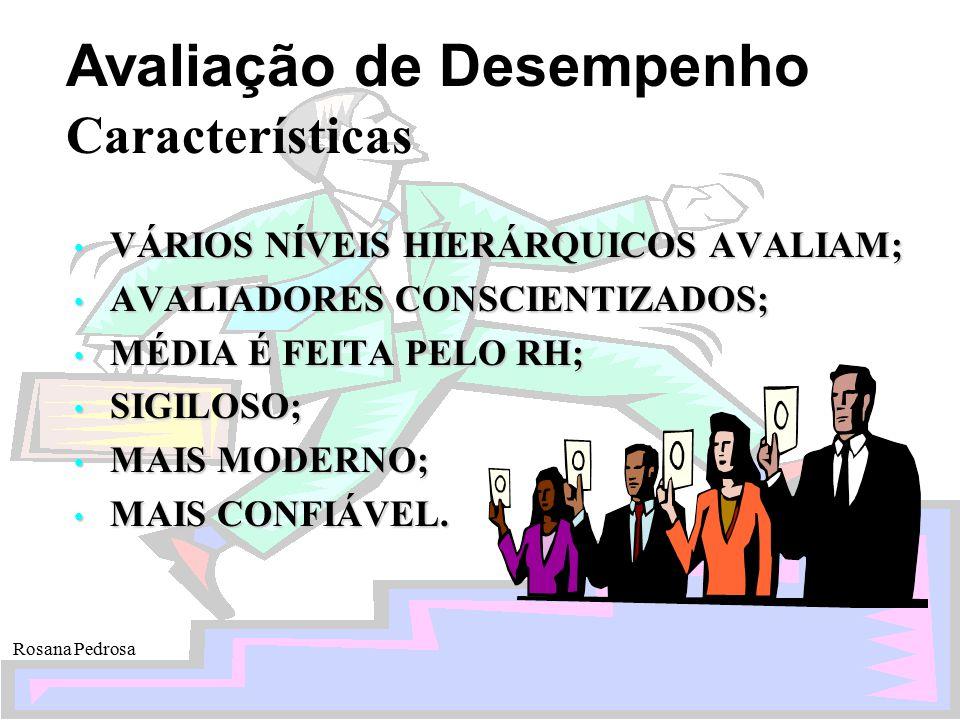 Características VÁRIOS NÍVEIS HIERÁRQUICOS AVALIAM;