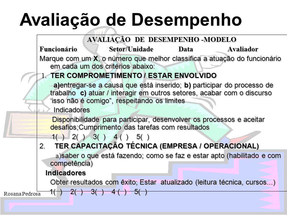 AVALIAÇÃO DE DESEMPENHO -MODELO