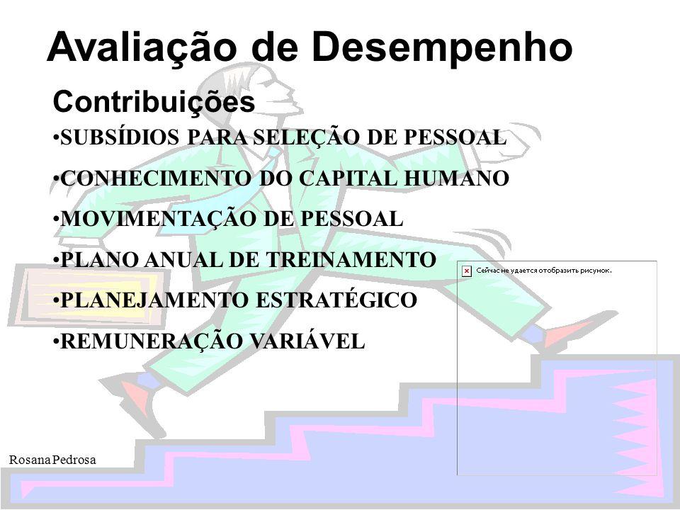 Contribuições SUBSÍDIOS PARA SELEÇÃO DE PESSOAL