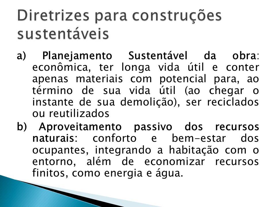 Diretrizes para construções sustentáveis