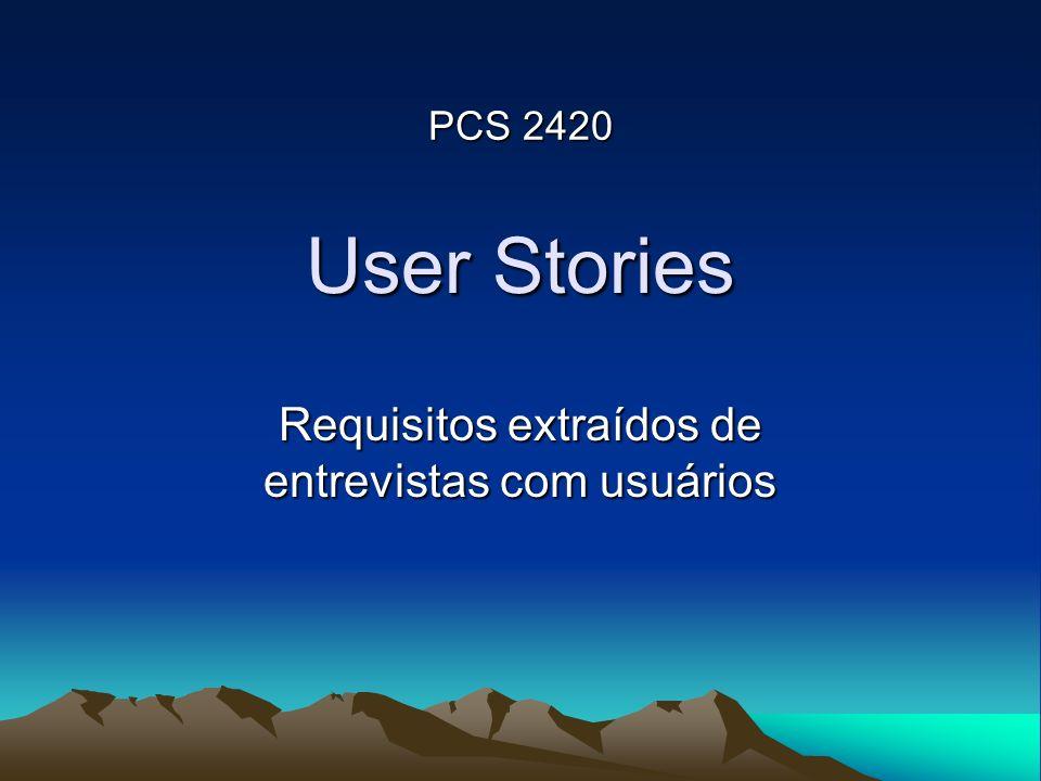 Requisitos extraídos de entrevistas com usuários