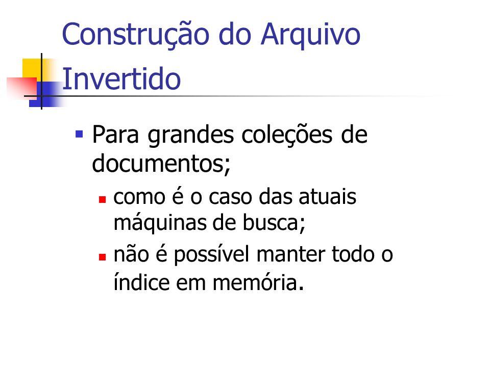 Construção do Arquivo Invertido