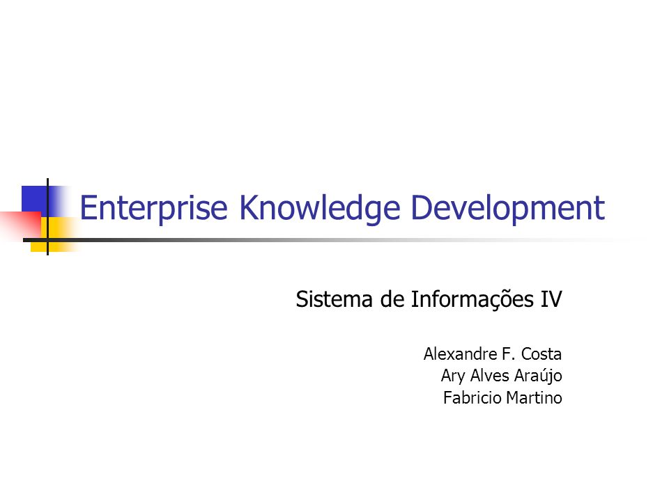 Enterprise Knowledge Development