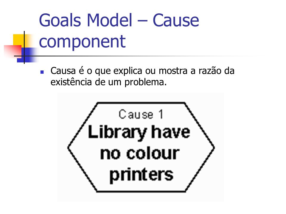 Goals Model – Cause component
