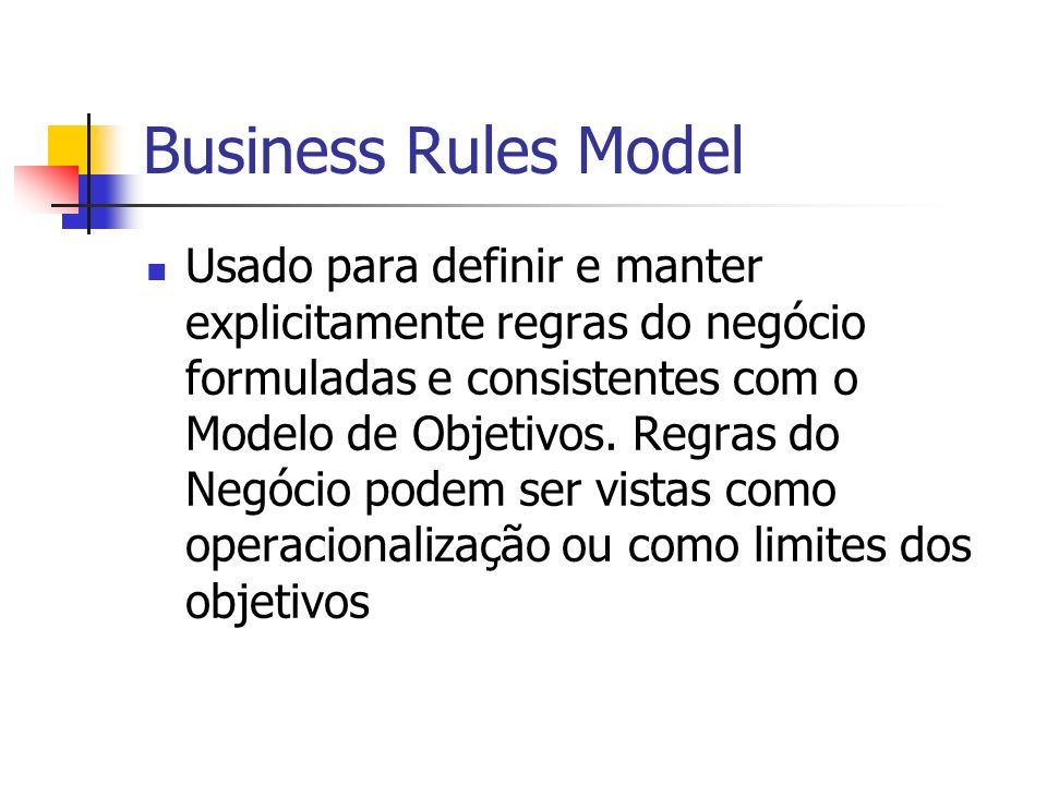 Business Rules Model