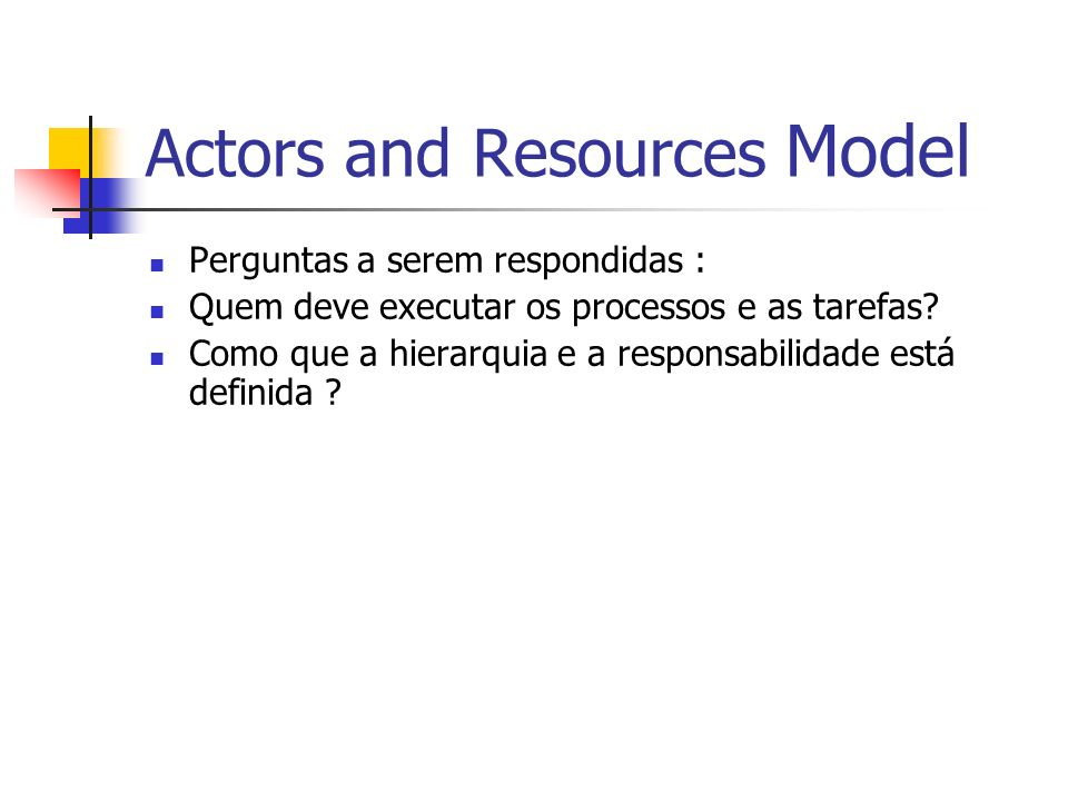 Actors and Resources Model