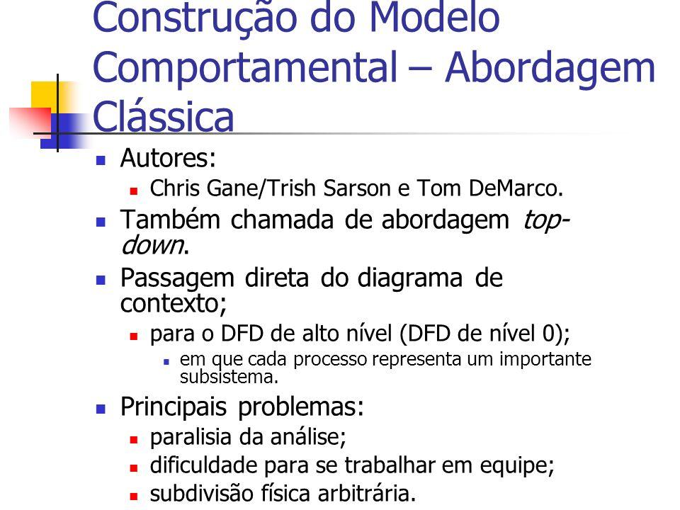 Construção do Modelo Comportamental – Abordagem Clássica