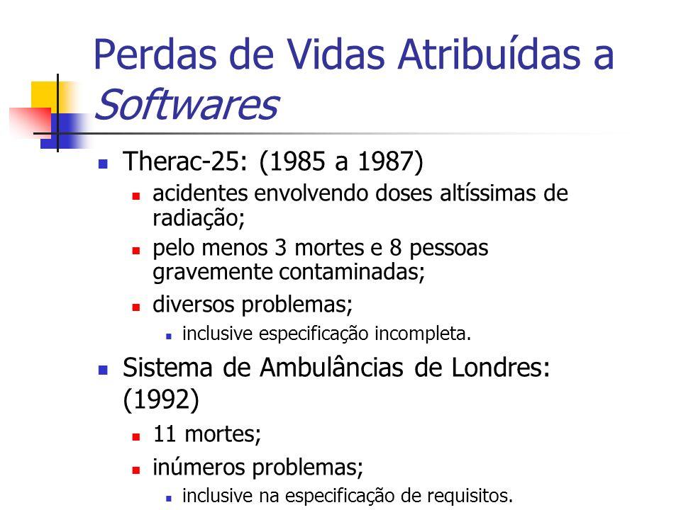 Perdas de Vidas Atribuídas a Softwares