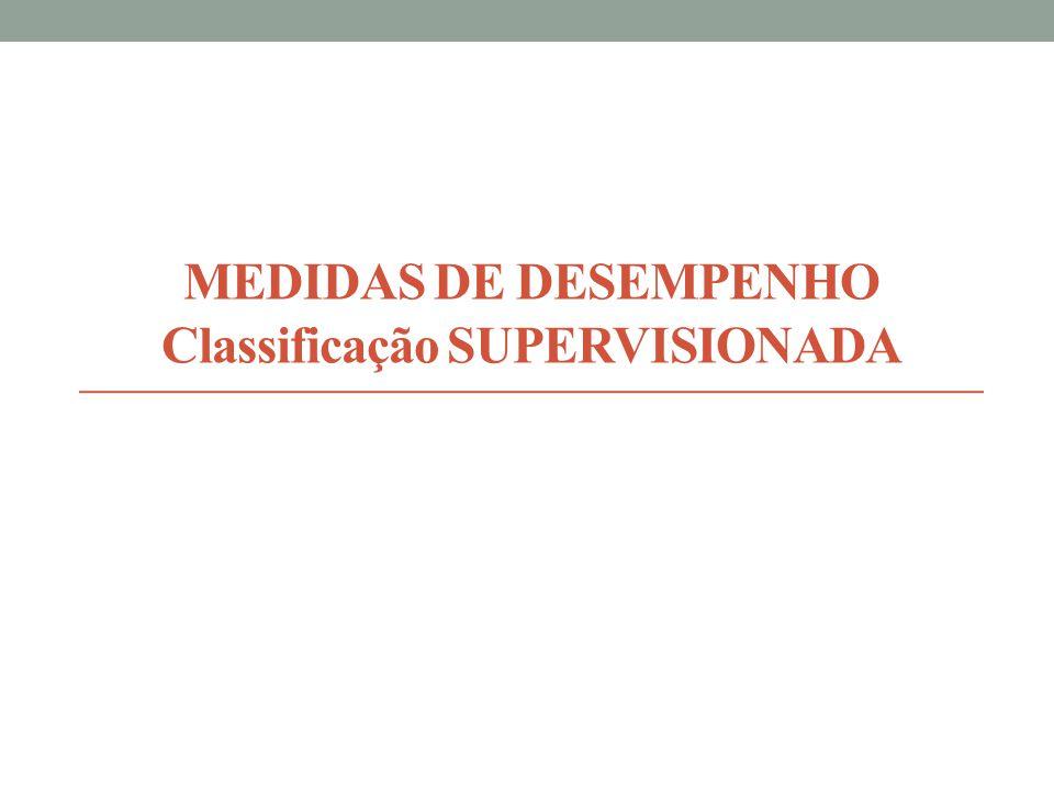 MEDIDAS DE DESEMPENHO Classificação SUPERVISIONADA