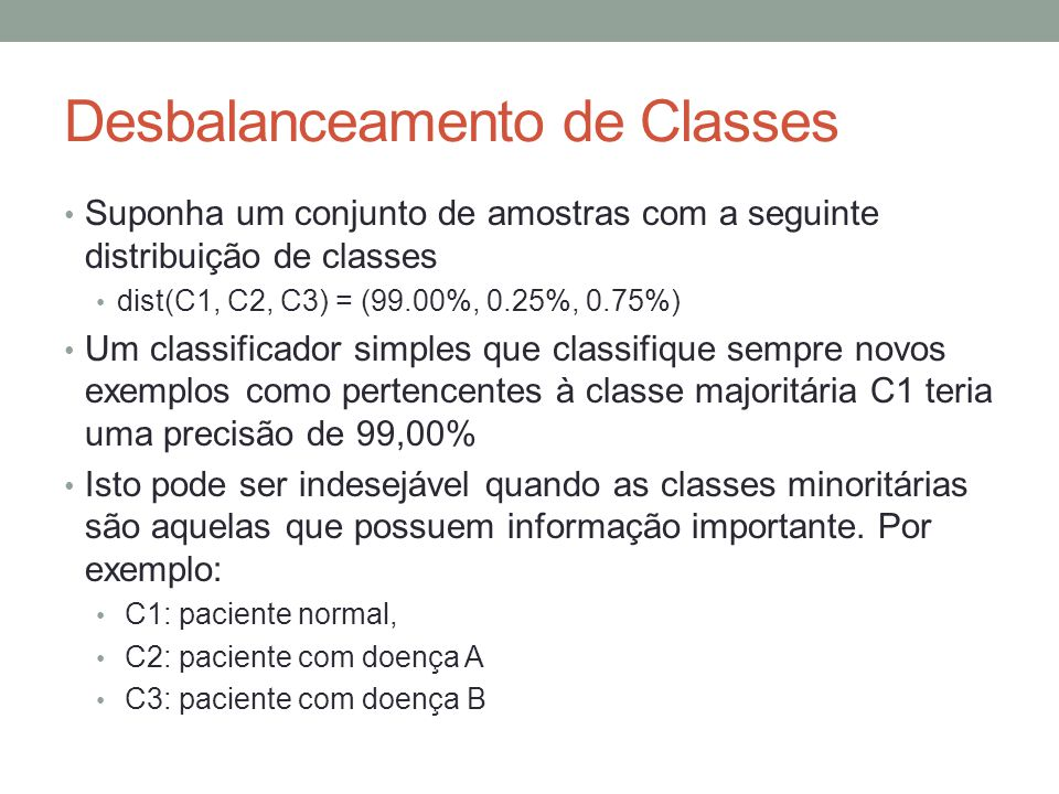 Desbalanceamento de Classes